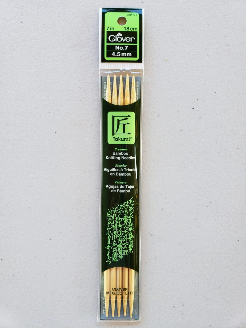 "Clover Bamboo Knitting Needles 7/"" No 7-4.5 mm"