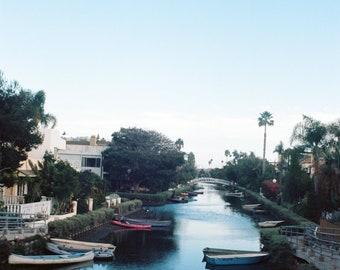 Venice Beach canal, color photograph