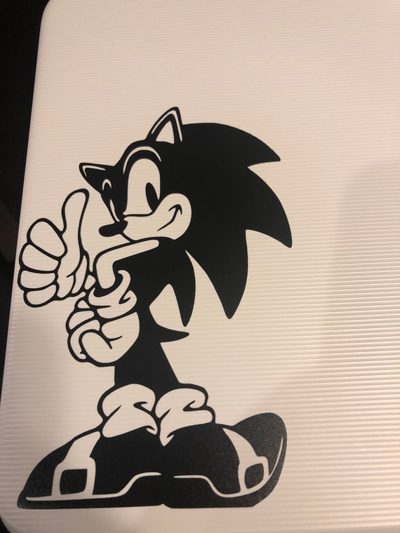Sonic The Hedgehog Silhouette For Laptop Car Truck Man Cave Etsy