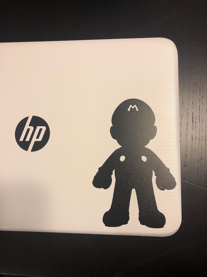Super Mario Silhouette Outline Vinyl Decal for Car Truck Laptop Man Cave  Wall Desk Vinyl Decal Family Car Bumper Sticker