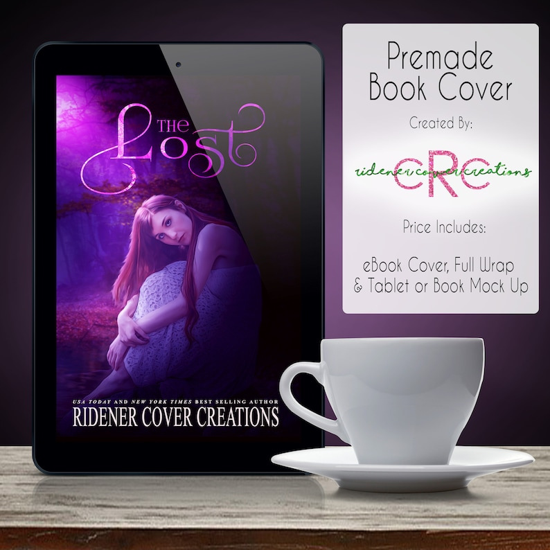 Premade Book Cover The Lost Book Cover Ebook Cover Digital Book Cover Digital Ebook Cover Novel Cover Digital Art Fiction