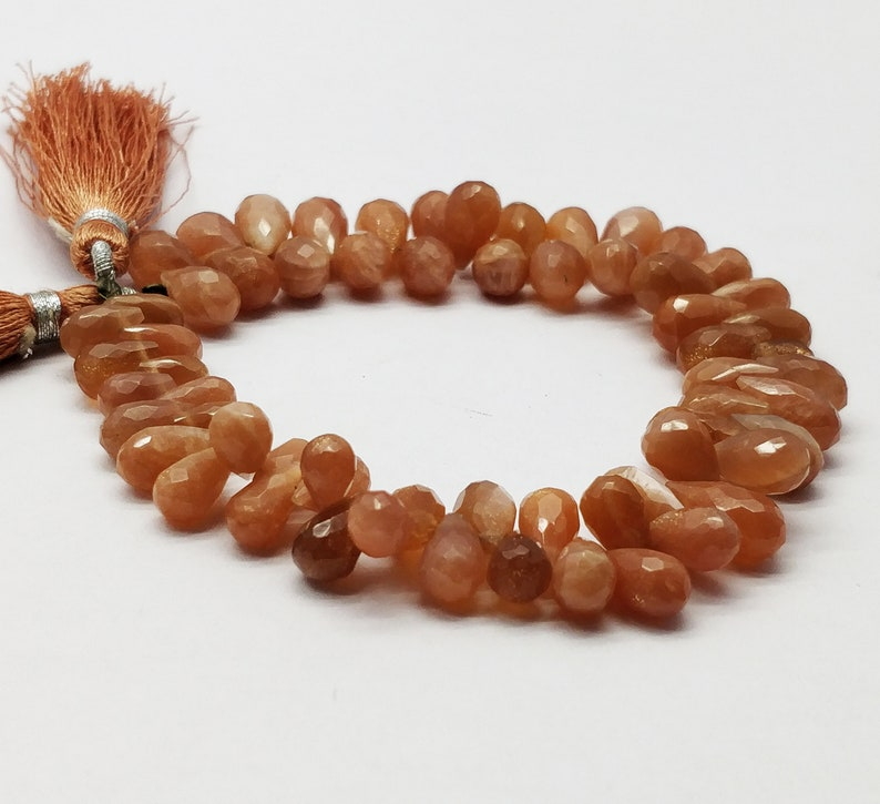 Teardrop Shap /& Faceted in 7 inch Long.AP32 100/% Natural AAA++ Sunstone 7x5-10.5x5.5 mm