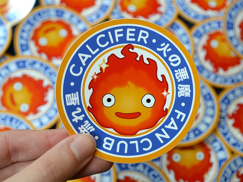 Calcifer Howls Moving Castle Anime decal sticker Ghibli She likes