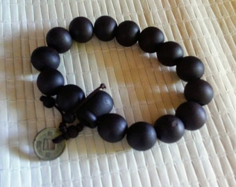 Natural dark Buddha Prayer Bracelet