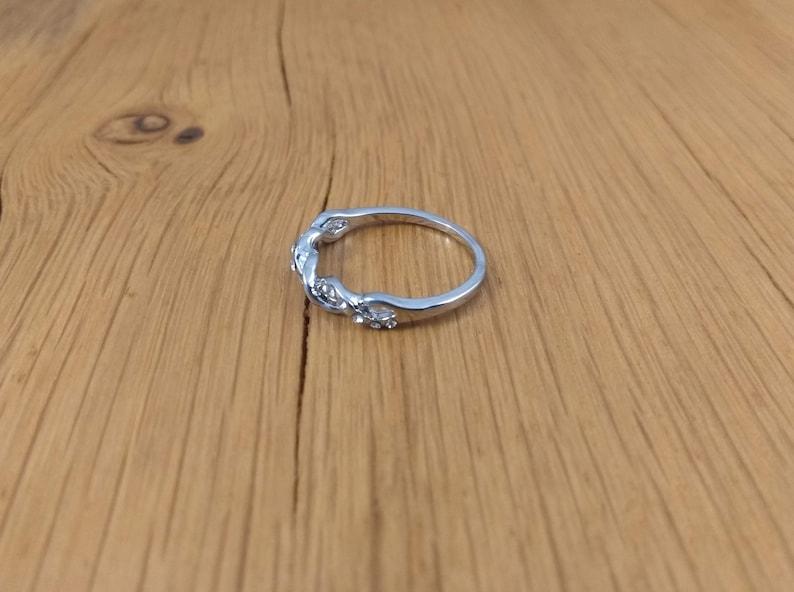 Glitter Ring Rhinestone Ring Boho Chic Ring Gypsy Ring Tonsai 2 Diamante Ring Braided Ring Silver Plated Ring Sparkling Ring