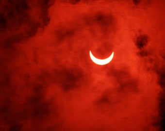 Solar Eclipse 2018 Red