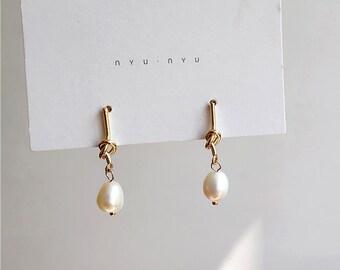 d15542c6878 Fashion Freshwater Pearl Stud Earrings Baroque Pearl Earrings Braided Earrings  Tassel Drop Earring For Women Gift Handmade