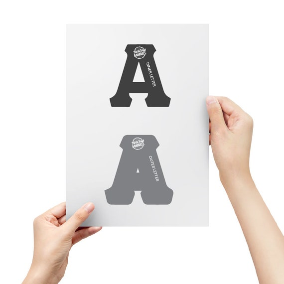 It is an image of Free Printable Letter Stencils with full page