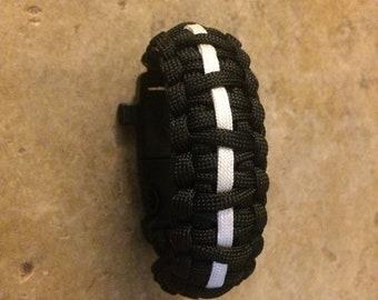 """Paracord Fire-Starter Bracelet *For 7"""" Wrist*- King Cobra"""