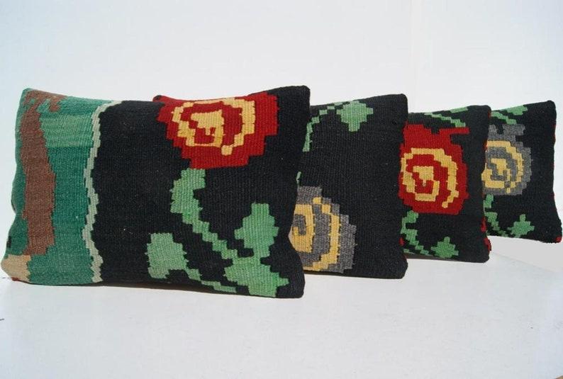20x14 Yugoslavian kilim pillow cover rectangle hand woven kilim rug