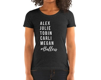0088012cd22 Ladies' Adult Soccer Heroes Short Sleeve T-shirt   Alex Morgan, Julie Ertz, Tobin  Heath, Carli Lloyd, Megan Rapinoe