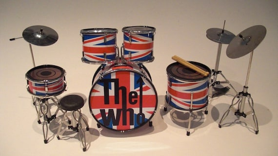 Keith Moon The Who Union Jack Miniature Drum Kit Etsy