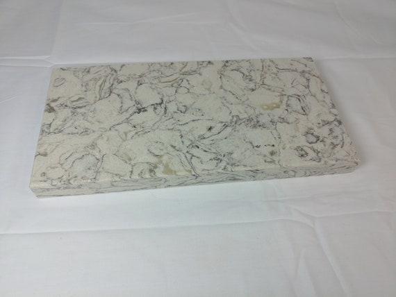 Quartz Stone Cutting Board cheese food platter unique marble design sparkle wht