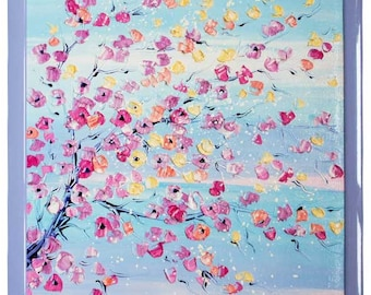 """Tenderness - Impressionism Original Oil painting on canvas 21""""x15"""""""