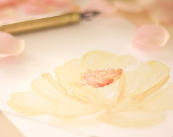 Yellow Rose Stationery Notecards