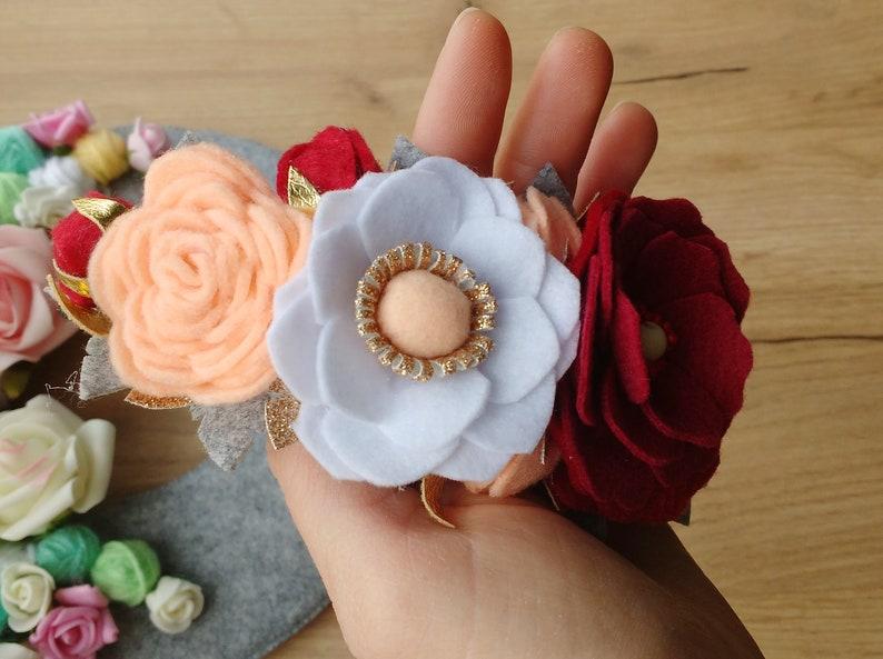Baby Girl  Felt Flower Headband Felt Flower Accessories Felt Hair Band