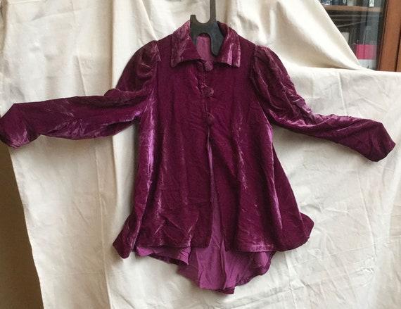 Vintage purple velvet jacket