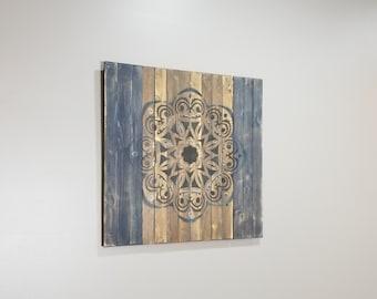 Wood Wall Art Blue Etsy Nz