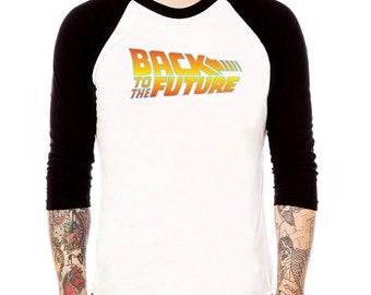 Back to the Future raglan baseball tee old movie retro vintage t shirt 3/4 sleeve