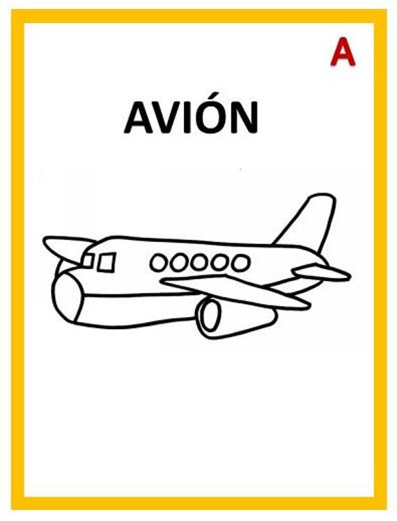 Coloring Book Vowels in Spanish PDF libro para colorear | Etsy
