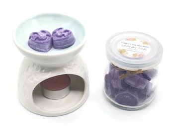 Lavender Fields Scented Soy Wax  Melts - Fragrant Wax Melts - 16 Pieces -  Eco Friendly - Candle - Intention - Manifesting - Chakra - Gift