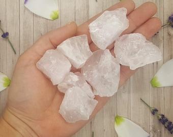 B Grade Natural Raw Rose Quartz Crystal - Rose Quartz Crystal -  Love - Chakra -  Mediation -  Reiki -  Gift  - 10g to 150g - **B Grade**