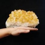 Large Citrine Cluster Bed - Crystal Cluster  -  Druzy - Reiki -  Solar Plexus - Sacral -  Chakra  -  Crystal Grid -  Gift - 3098kg 007