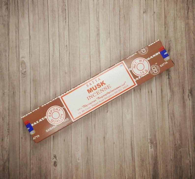 Satya Musk Incense Sticks   15 Stick Packet  Mediation  image 0