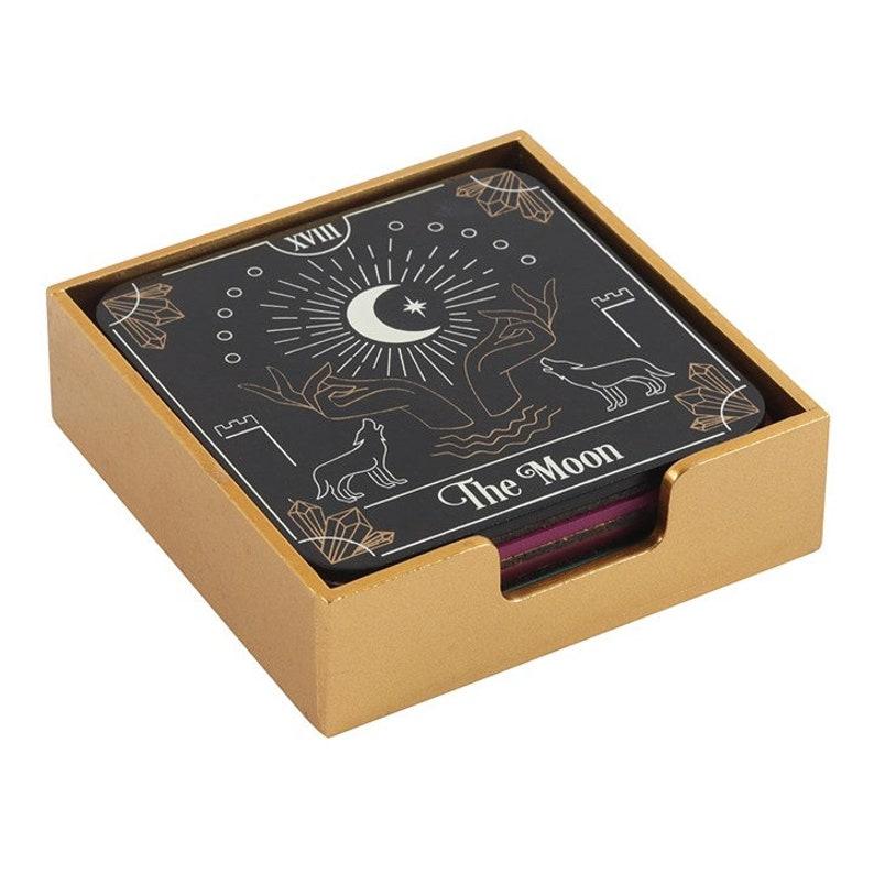 Tarot Card Coaster set  4 Coasters Set    Fortune Tellers image 0