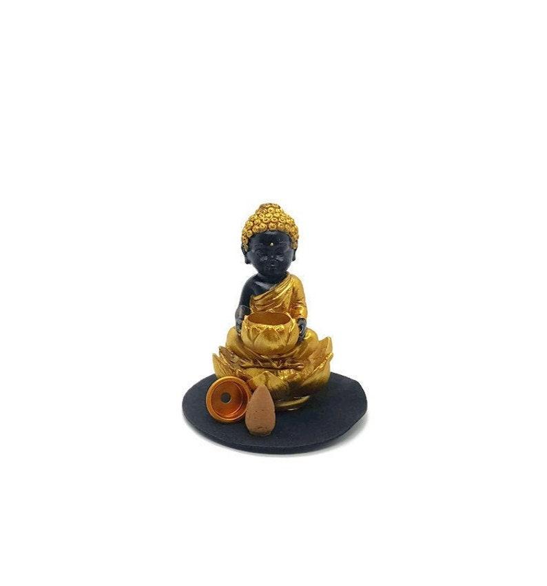 Lotus Buddha Back Flow Incense Cone Burner  Back Flow Incense image 0