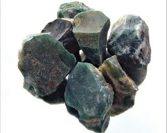 Natural Raw Rough Moss Agate Spiritual Healing Reiki Gardeners stone Heart Chakra
