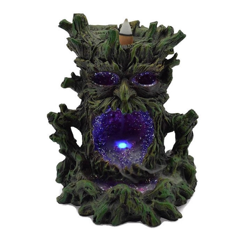 Light Up Green man Back Flow Incense Cone Burner  Back Flow image 0