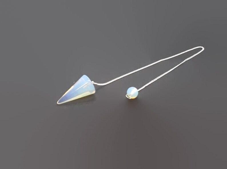 Opalite Pendulum  Cone Pendulum  Crystal Pendulum  Dowsing image 0