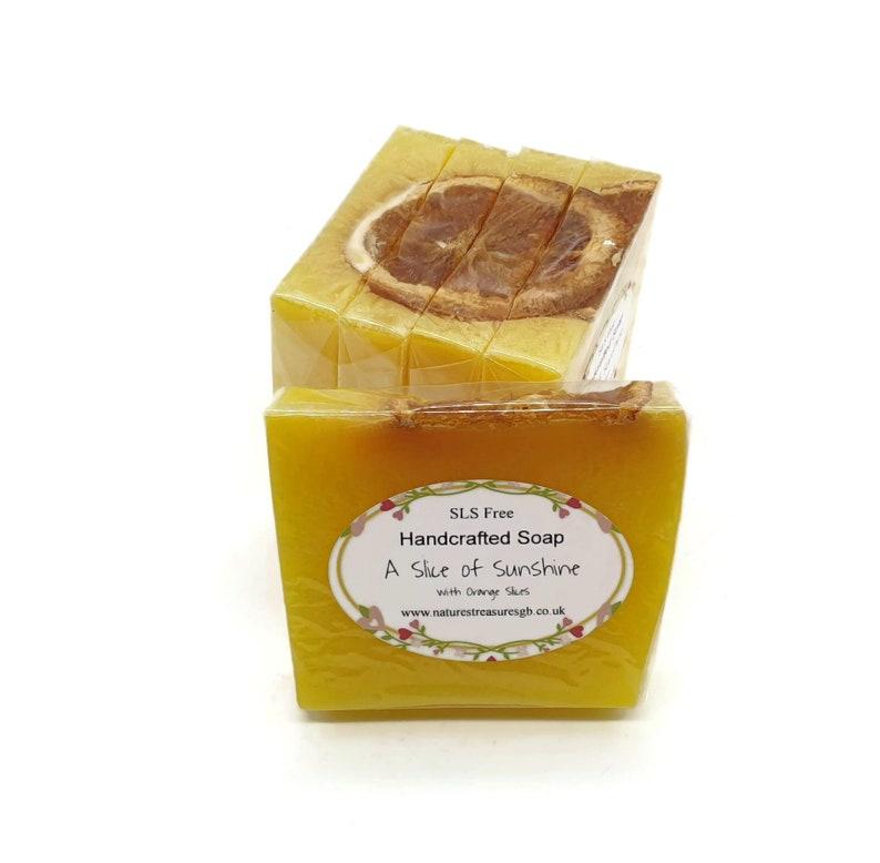 SLS Free  Slice of Sunshine Handcrafted Soap   Citrus Soap  image 0