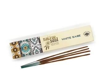 Native Soul White Sage Incense Sticks -  Incense Sticks -  Protection - Purify - Positivity -  Smudge Stick - Gift  - **Premium**