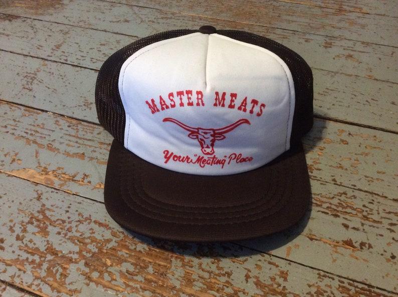 4ea85ceb Vintage screen printed trucker hat   Etsy