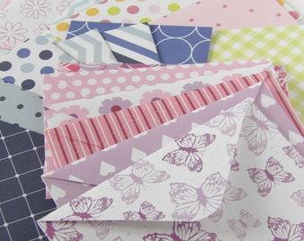 Pack of 6 Money Envelopes, Gift Envelopes, Envelopes for Gift Cards, Gift Envelope, Patterned Envelopes, Decorative Envelopes, Money Wallets