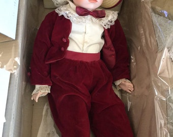 """Large Alberon Collectable Porcelain Doll Named George 23"""""""