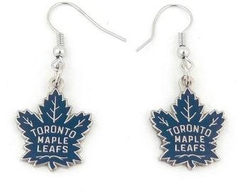ca3e912e692e78 Authentic, Official NHL Toronto Maple Leafs Charm, Pierced Hook or Ball Stud  Earrings - T195