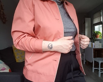 Vintage 1990s Salmon Pink David Barry Spring Jacket