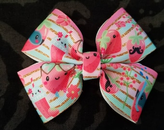 Summer Strawberry Double Bow