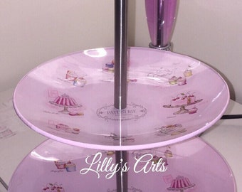 Hand made painting cake stand