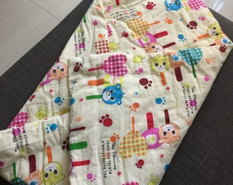 Handmade cotton blanket for babies, Mama's handmade baby quilt