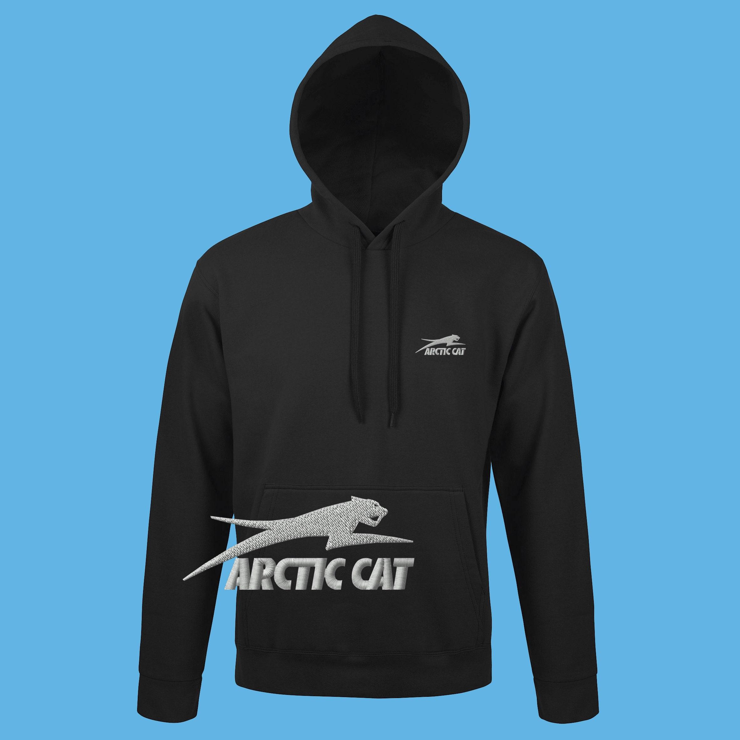 ARCTIC motoneiges CAT Hoodie motoneiges ARCTIC brodé Logo Sweatshirt noir pull à capuche T Shirt hommes femmes cadeau ami pères Noël jour de mère d8ef15