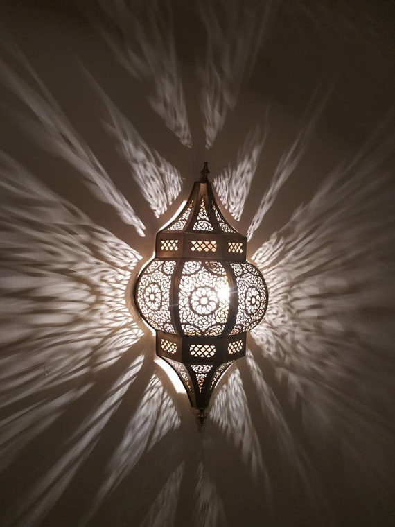 2 Wall Lamps Gold Silver Moroccan
