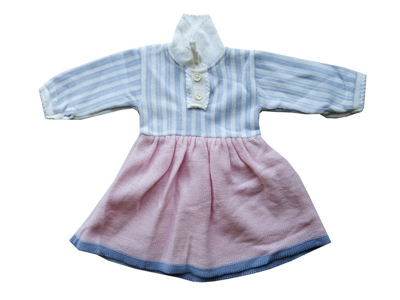 320468382 Vintage pink newborn dress Knitted baby clothes Going home