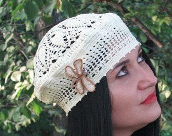 3b7f57187a1 crochet summer beret