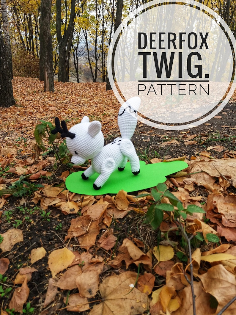 Pattern PDF deerfox Twig, Hilda, crochet toy, stuffed animal, amigurumi  digital, PDF Crochet Pattern, Instant Download