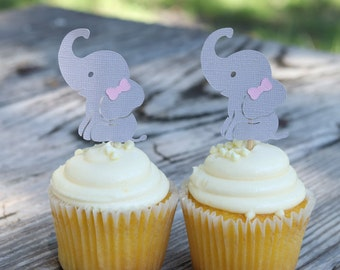 Elephant Cupcake Toppers Etsy