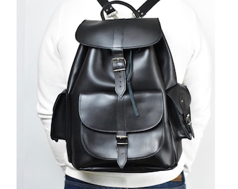 a5541ee5cd Premium Large leather backpack